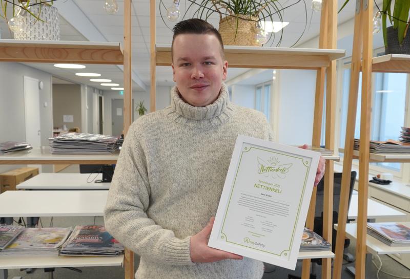 Tammikuun Nettienkeliksi valittiin Sami Kieksi