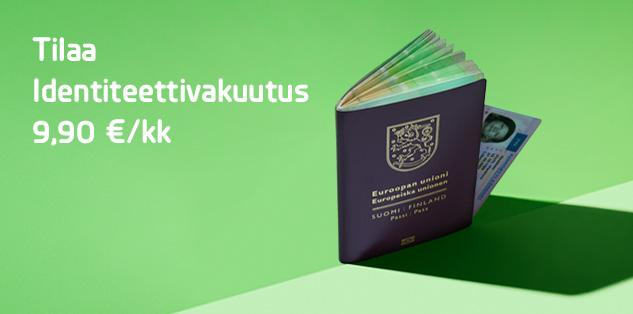 Tilaa Identiteettivakuutus 9,90 €/kk