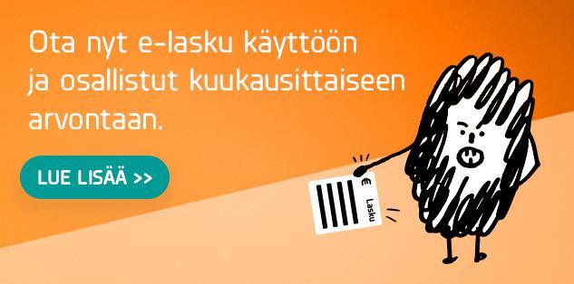 Ota e-lasku käyttöön ja osallistu arvontaan!