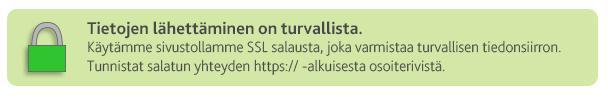 Sivustollamme on käytössä SSL salaus