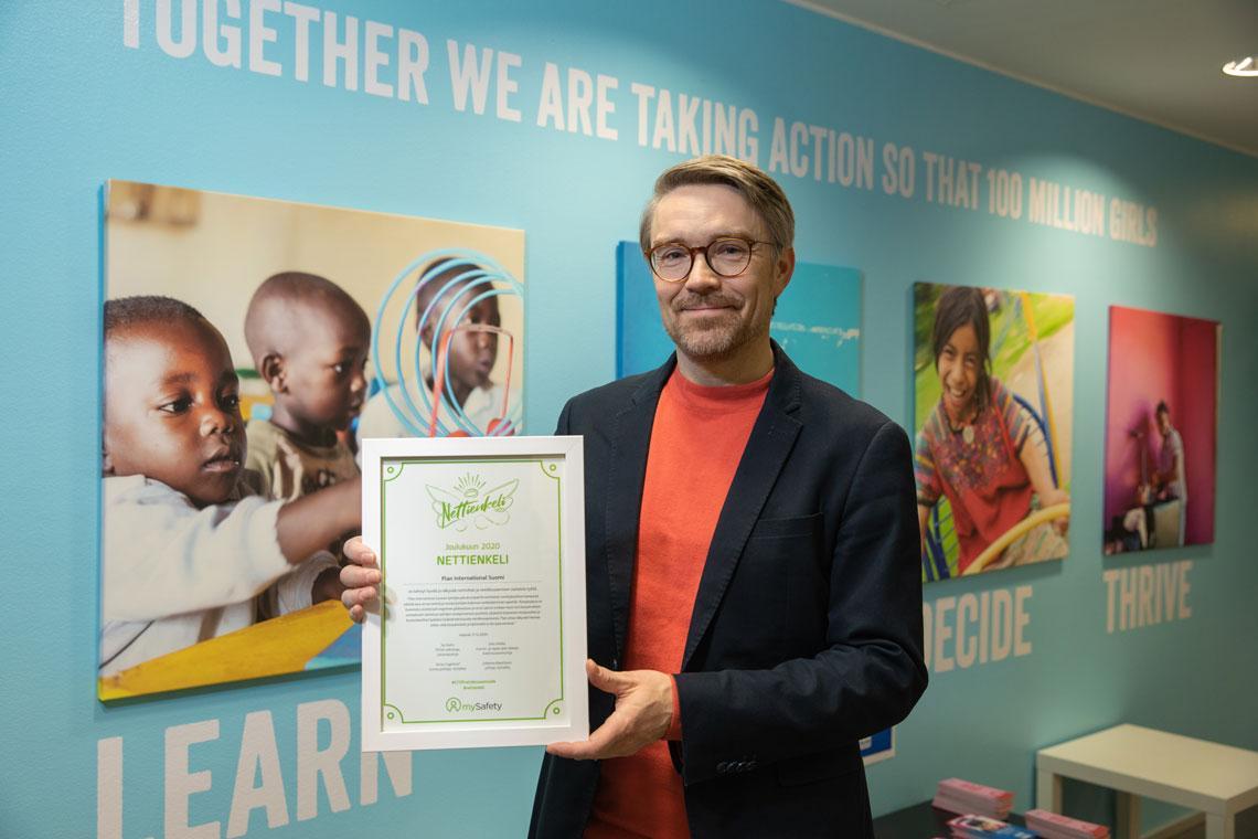 Lasten oikeuksia ja tasa-arvoa edistävä Plan International Suomi on valittu joulukuun Nettienkeliksi.